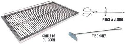 accessoires inclus barbecue fermé