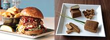 hamburger et Tofu fumé